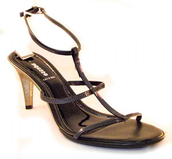 Adesso Italian made Black party sandal